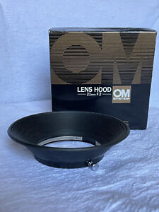 Mint Olympus OM System Zuiko 21mm f2 Lens Hood, Boxed