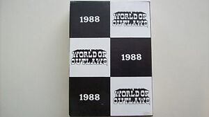 1988 World Of Outlaws card set w/Jeff Gordon's 2nd card made of him