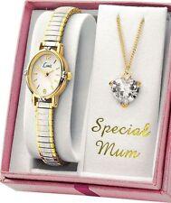 Limit Ladies Special Mum Necklace & Quartz Movement Analogue Watch two-tone Set