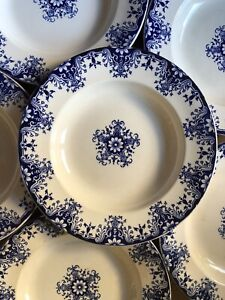 BORDEAUX VIEILLARD 6 assiettes creuses décor rouen