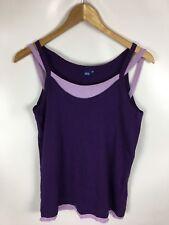 CECIL Damen Top, Shirt, Lila, 100% Baumwolle, Größe M