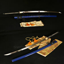 Full Tang Japanese Samurai Sword Katana Oil Quenched Carbon Steel Battle Ready