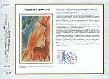 FEUILLET CEF / DOCUMENT PHILATELIQUE / MARCEL PAUL 1992 PARIS