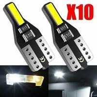 10Pcs White T10 501 194 W5W 7020SMD Light CANBUS Error Free Car LED Wedge Bulb