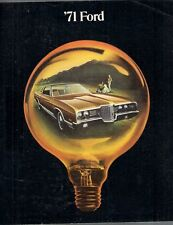 Ford Custom 500 Galaxie 500 LTD Brougham 1971 USA Market Sales Brochure
