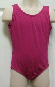 Frontlined leotard Bal togs Fuschia style CHILD intermediate #1316 cotton spandx