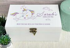 Magical Unicorn Personalised Jewellery Box Gift Birthday Girl Memories