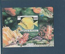 Guinée république  bloc  faune poissons  1997  num : 122  oblitéré