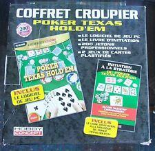 coffret croupier poker texas hold'em hobby concept neuf scellé