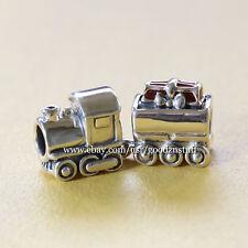 New Authentic PANDORA Bead Christmas Train Charm 925 Sterling Silver 797519EN27