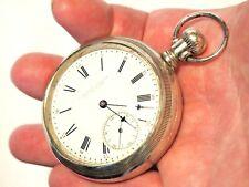 RARE E. Howard & Co. Boston pocket watch in Nickel Silver case Illinois