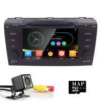 "7"" HD Car Stereo DVD Player Screen Mirroring FM GPS NAV For Mazda 3 (2004-2009)"