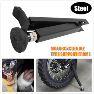 1PC Motorcycle Bike Tyre Support Frame Parking Rack Floor Stand Tire Repair Tool