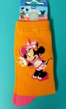 PAIRE DE CHAUSSETTES 31/34 Minnie orange rose DISNEY fille coton NEUF
