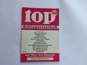top-Schlagertextheft Nr. 30 mit Autogrammkarte: Les Humphries