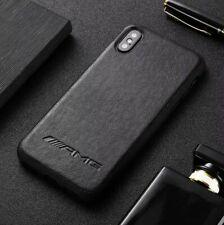 iPhone Mercedes AMG Black Leather ALL MODELS Phone Case Cover UK SELLER