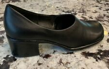NEW Black Leather JG Hook shoes 7M Nice Heel