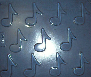 11 SMALL MUSICAL NOTES SHAPES CHOCOLATE MOULD