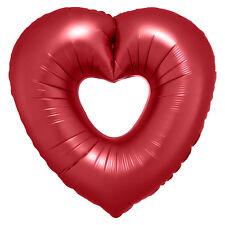Red Open Heart Super Shape Balloon Valentine's Day Love Romantic Decoration