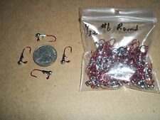 1/32oz #6 ROUND HEAD LEAD HEAD EAGLE CLAW - RED 100ct