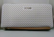 AUTHENTIC GUESS WALLET - KAMRYN LASER CUT DETAIL WHITE MULTI - NEW IN BOX