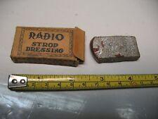 VINTAGE   RADIO  STROP  DRESSING   RAZOR  BLADE  SHARPENER