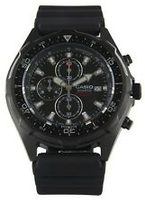 Casio AMW330B-1AV, Analog Watch, Chronograph, Black Resin Band, Date