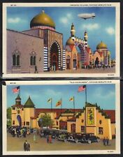 US 1933 10 CHICAGO WORLDS FAIR COLOR P.C. OF STREETS OF
