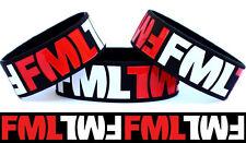 FML Wristband F**** My Life Bracelet One Inch Wide Wrist Band Funny Joke Item