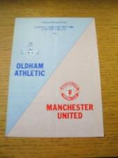 20/01/1985 Oldham Athletic v Manchester United [Friendly] (Folded). No obvious f
