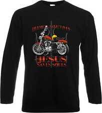 Longsleeve/Langarm Shirt mit Biker-,Chopper-,Oldscoolmotiv Modell Sporty