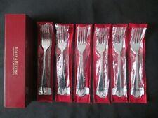 Robbe & Berking Alt Chippendale 925 echt Silber 6 Dessertgabel 18,2 cm Gabel NEU