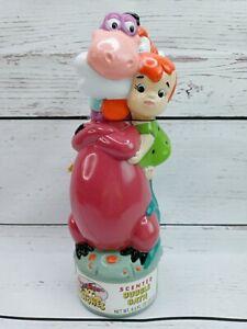 Vintage Hanna Barbera The Flintstones Scented Bubble Bath Bottle Dino Pebbles