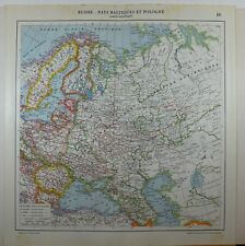 1929 ORIGINAL MAP ~ RUSSIA ESTONIA LITHUANIA FINLAND ROMANIA CRIMEA