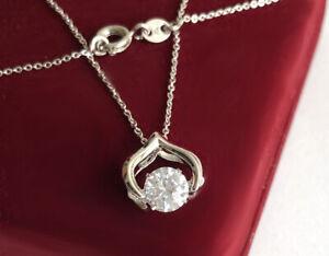 Halskette Herz Tanz Kristall Anhänger mit SWAROVSKI Kristallen 18K Weißgold pl