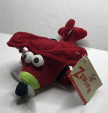 Zanies Dog Toys, Plush Rope Red Airplane Medium Puppy Training New With Tags