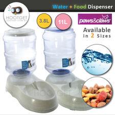 [3.8/11L- Water/Food] Pet Dog Cat Puppy  Dispenser- Feeder Fountain Bowl Bottle