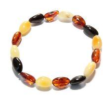 Genuine Baltic Amber Bracelet 7 g Mixed Polished Stretch 18 cm