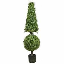 "50"" ARTIFICIAL BOXWOOD IN OUTDOOR TOPIARY TREE PLANT ARRANGEMENT BALL POOL PATIO"