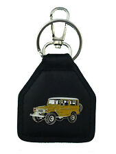 Toyota Landcruiser, Mustard SWB, FJ40, BJ40,   Real Leather Keyring