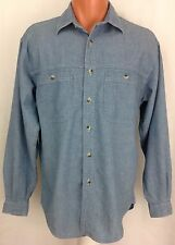 L.L. Bean Blue Chambray Men's Shirt Long Sleeve Button Down Small S ~ EUC