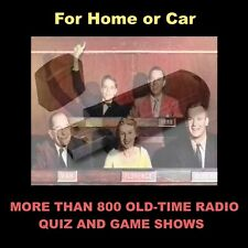 OLD-TIME RADIO QUIZ AND GAME SHOWS. 800+ SHOWS ON A FLASH DRIVE FOR HOME OR CAR