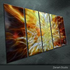 Modern Original Metal Wall Art Abstract Shining Indoor Outdoor Decor by Zenart