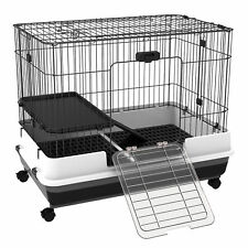 Rabbit Cage Small Animal Pet Habitat Pull Out Tray w/ Wheel