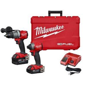 Milwaukee 2997-22CXC M18 FUEL 18V 2 Tool Driver Brushless Compact Combo Kit