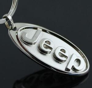 For Jeep Car Logo Key Ring Chain Car Titanium Keyring Keychain Key Chain