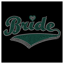 Bride Bridal Wedding Party Bridesmaid Hotfix Iron On Rhinestone Shirt Transfer