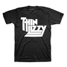 Thin Lizzy T-Shirt Basic Logo Black Tee, Rock Band, Black, Fullsize S-5Xl, New