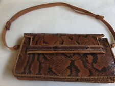 Vintage 1970's Handcrafted African Snakeskin Leather Hand Bag Original Condition