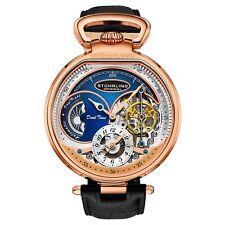 Stuhrling мужские 988 автоматический Ветер из нержавеющей скелетон из розового золота кожаные часы